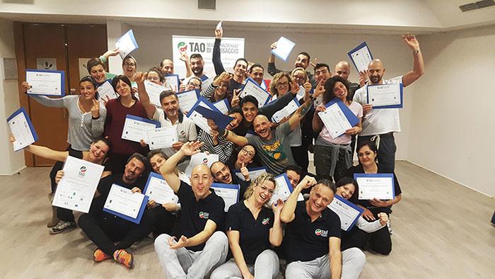 foto studenti corso massaggio base classico svedese